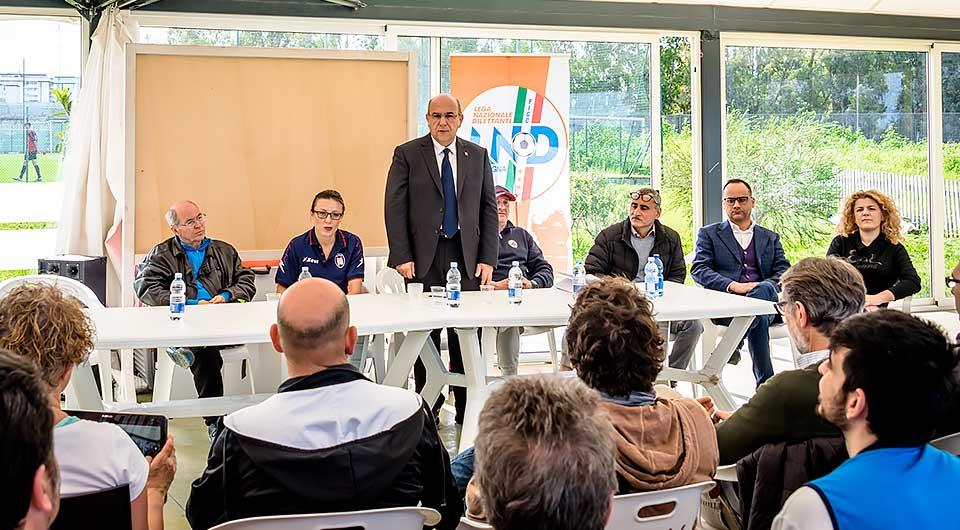 quarta categoria calcio riunione sardegna lega nazionale dilettanti