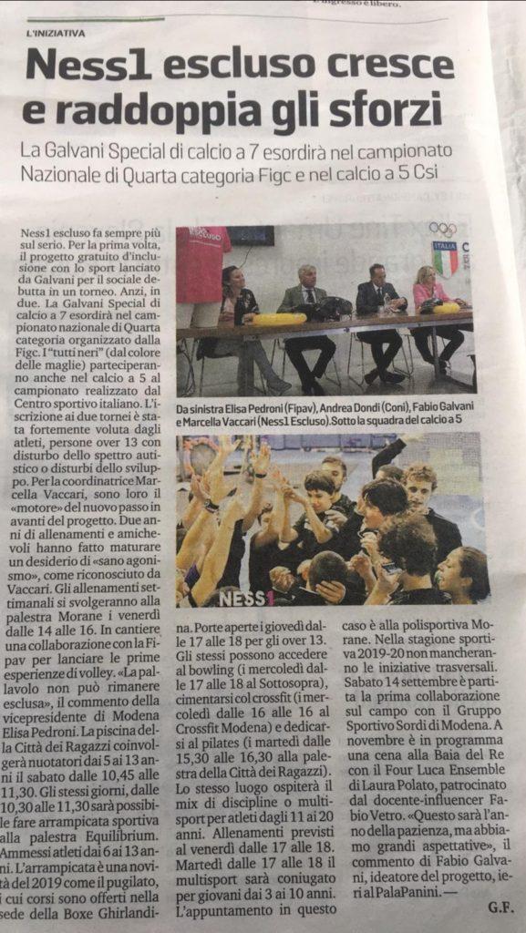La Gazzetta di Modena – 25/09/2019