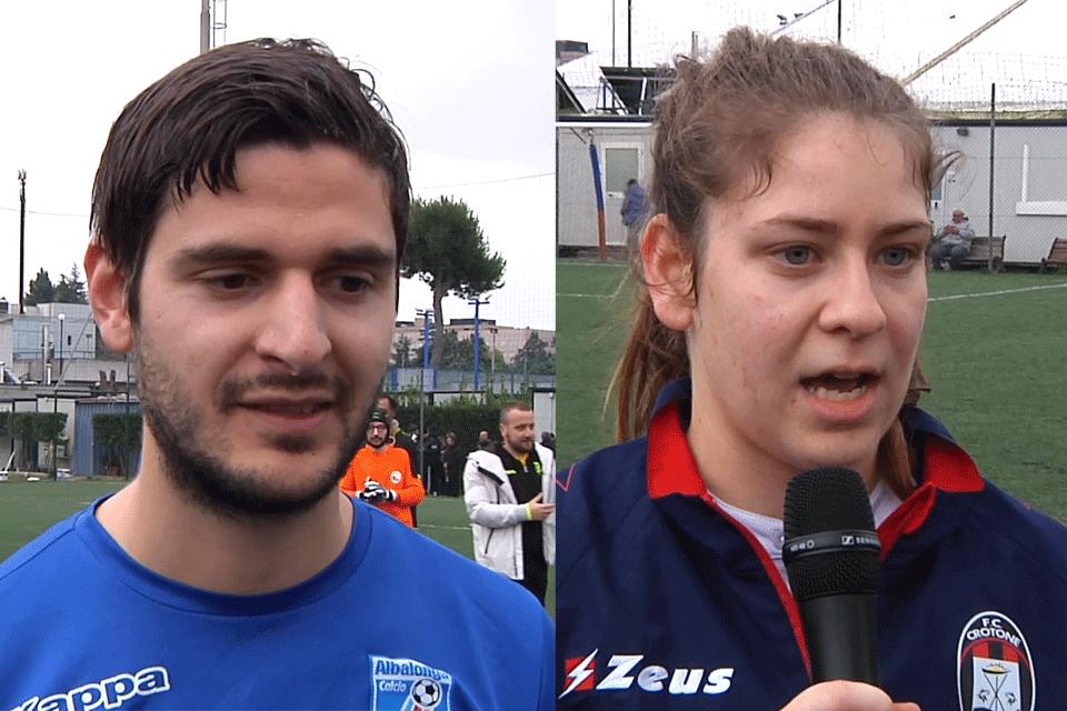 Interviste a Daniele Santangeli (Albalonga fs A) e Giulia Martinelli (Crotone fs)