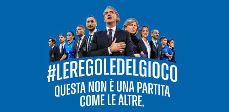 Gli Azzurri e le Azzurre in campo per ribadire #leregoledelgioco contro il Covid-19
